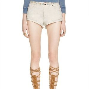FREE PEOPLE  Deadstock Eliot Embroiderd Shorts